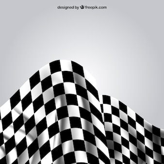 Race checkered flags with realistic design
