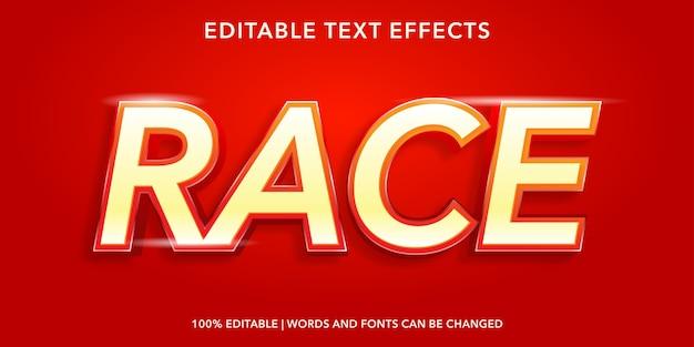 Race editable text effect