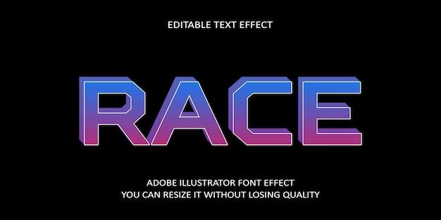 Race editable text font effect