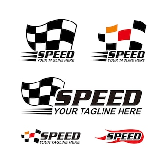 Race flag logo collection