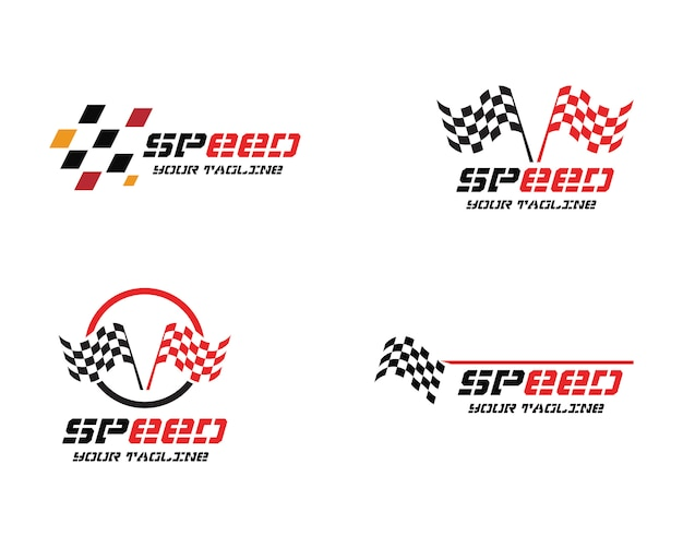 Race flag logo