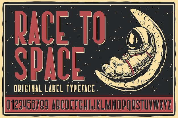 Race to space label font