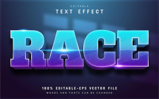 Race text, editable 3d text effect
