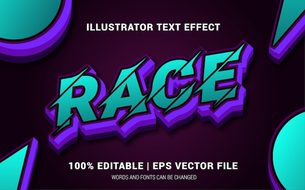Race text effects style