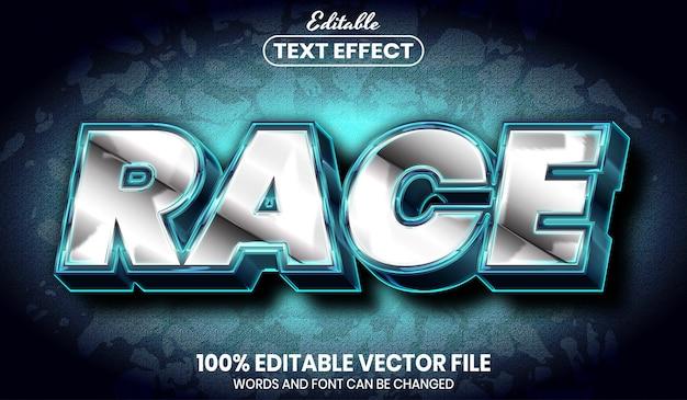 Race text, font style editable text effect