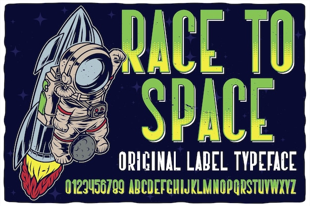 Race to space 글꼴
