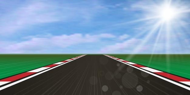 Race track, road highway.