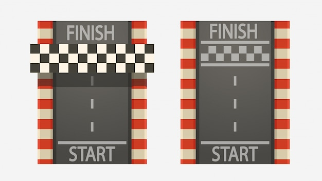 Race tracks set on white