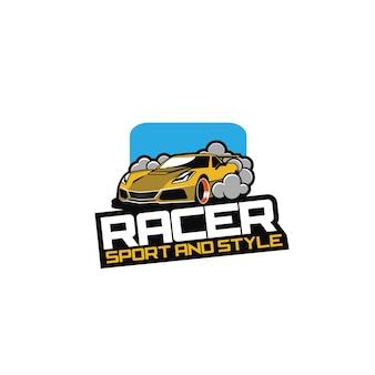 Racer car logo