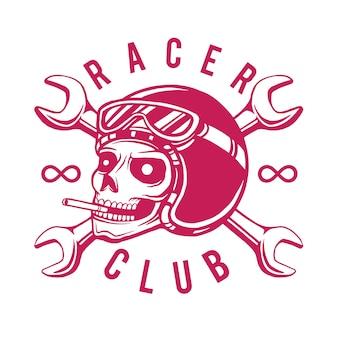 Racer club футболка дизайн