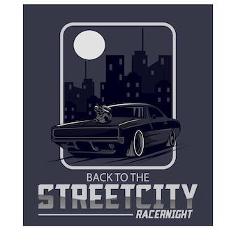 Racer night in the city