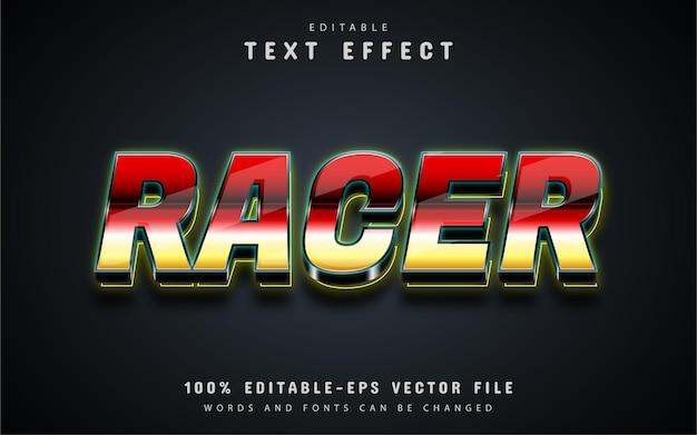 Racer text, 3d editable text effect