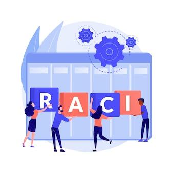 Иллюстрация абстрактной концепции матрицы raci