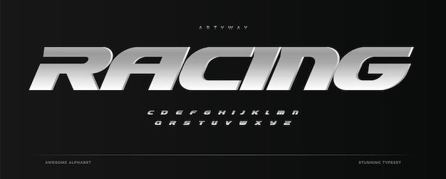 Racing alphabet speed sport font automotive type