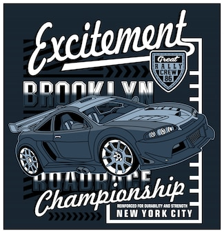 Racing art design,vector graphic illustration