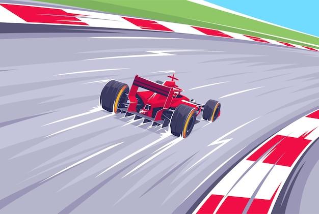 Гонки на высокой скорости. баллид в повороте на скорости. королевские скачки.