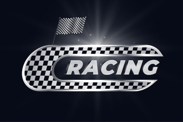 Racing background with checkered flag
