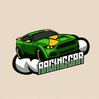 Racing car speed esportsロゴバッジ