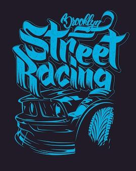 Типография гоночного автомобиля
