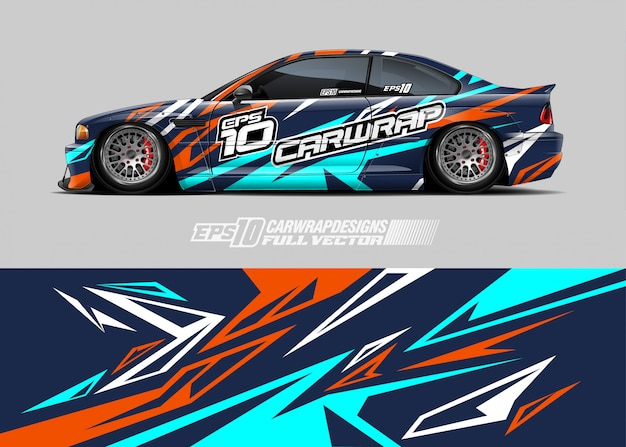 Racing car wrap decal designs