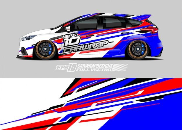 Racing car wrap decal designs