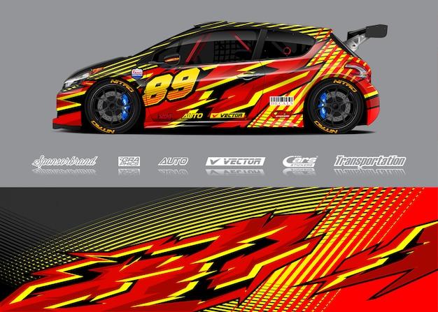 レーシングカーラップデカールデザイン