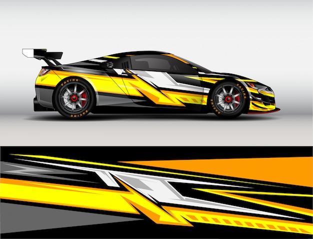 Racing car wrap design vector