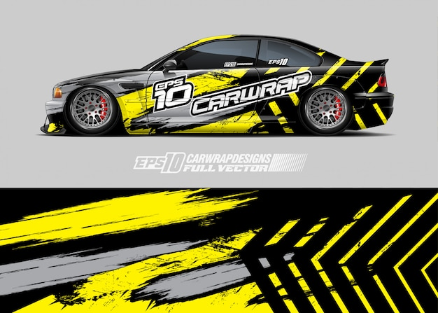 Racing car wrap designs