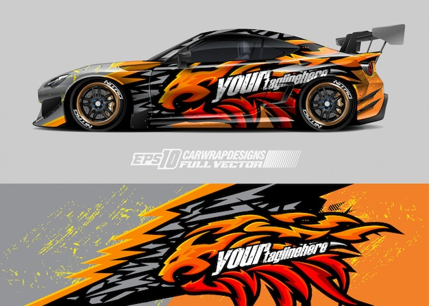 Racing car wrap designs