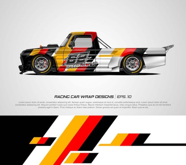 レーシングカーラップドイツ国旗デザインベクトル