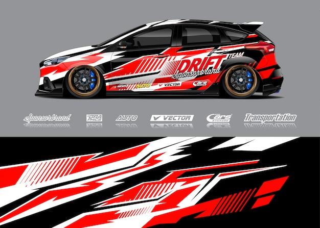 Racing car wrap illustration