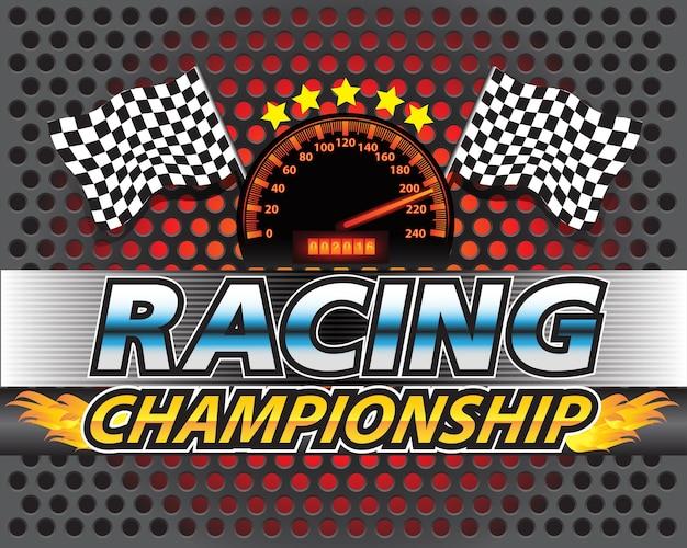 Racing championship artwork design sport