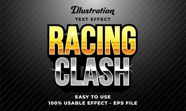 Racing clash text effect