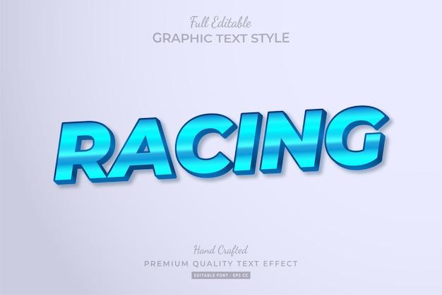 Racing editable text style effect