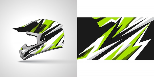 Racing helmet wrap illustration
