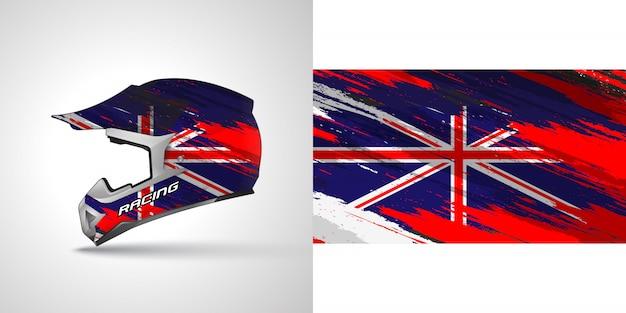 レーシングヘルメットラップ図