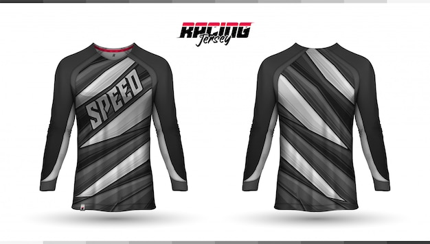 Racing jersey, sports jersey template