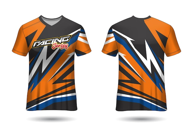 Racing jersey template design