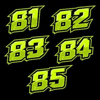 Дизайн гоночного номера