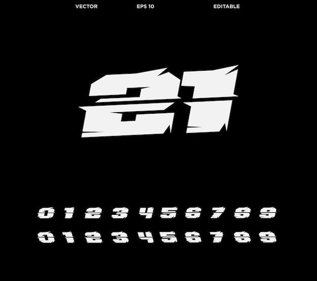 레이싱 번호
