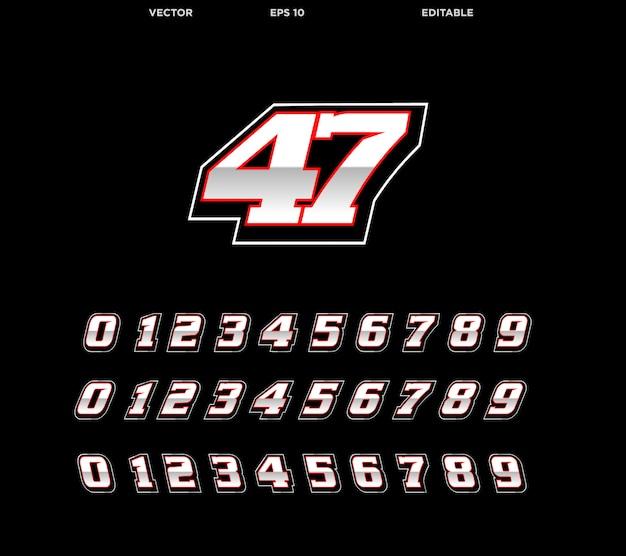 Racing number