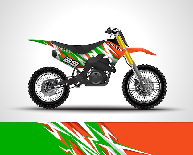 Racing sport bike wrap decal and vinyl sticker illustration.