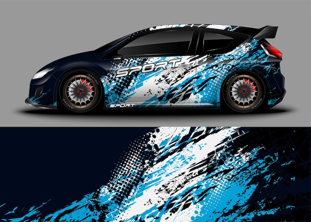 Racing sport car. wrap decal sticker and vehicle livery.