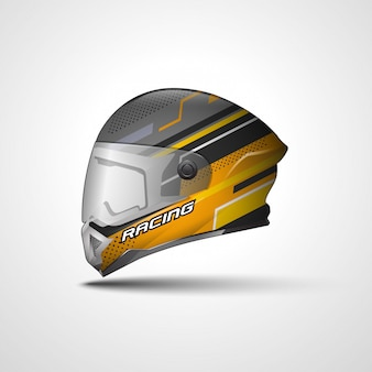 Racing sport helmet wrap decal and vinyl sticker design.