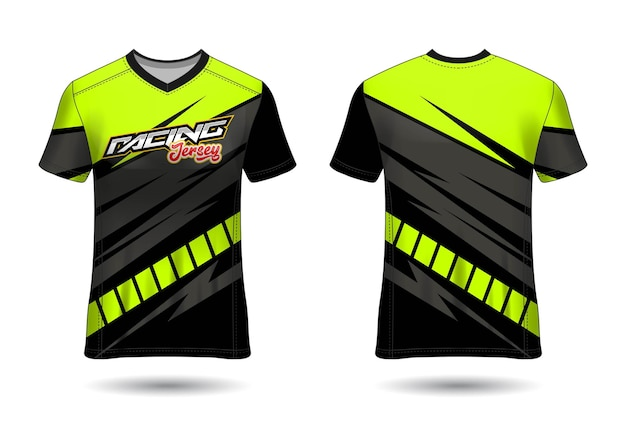 Racing sport jersey template design