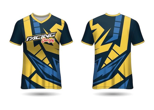 Racing sport jersey template design