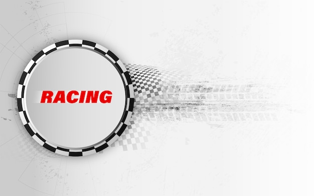 Racing square background, abstraction in race car track