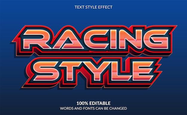 Гоночный стиль текстовый эффект автогонки текстовый стиль