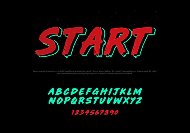 様式化されたモダンなフォントとアルファベットのベクトル。 racing typography italicフォント