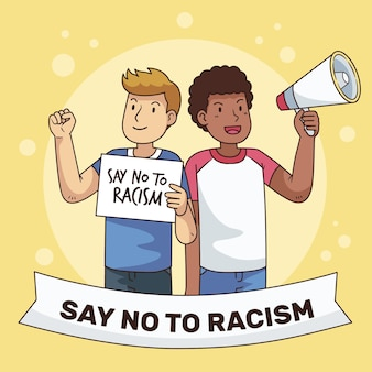 Racism illustrated concept theme